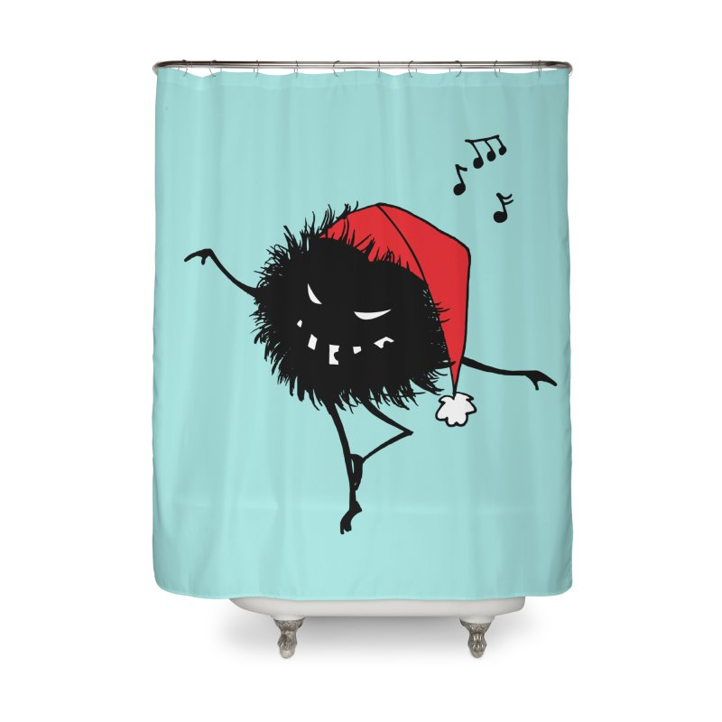 Dancing Evil Christmas Bug Home Shower Curtain by Boriana's Artist Shop