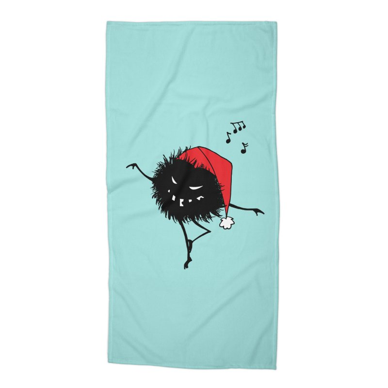Dancing Evil Christmas Bug Accessories Beach Towel by Boriana's Artist Shop