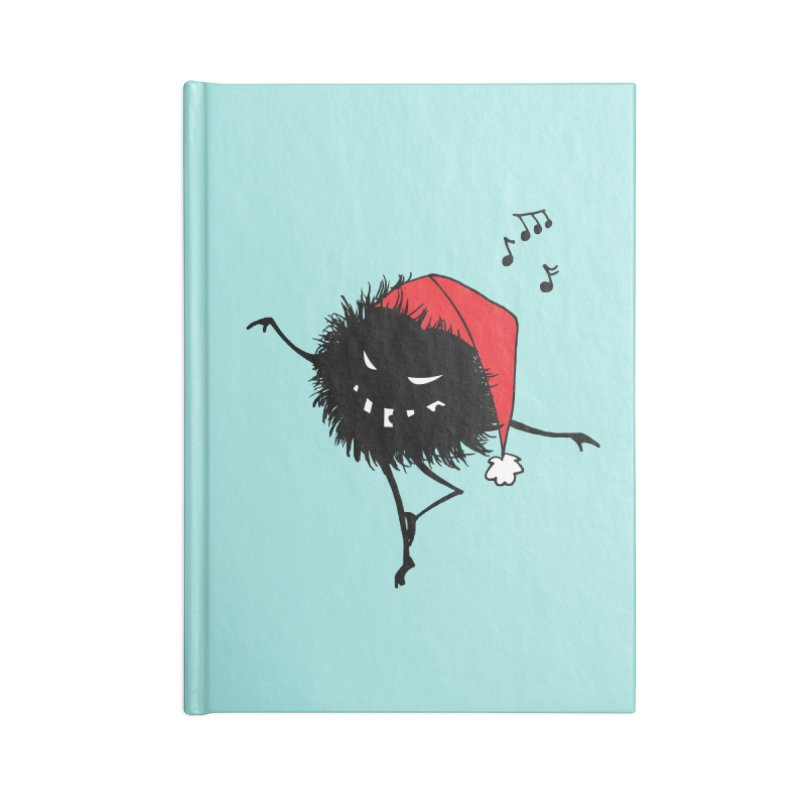 Dancing Evil Christmas Bug Accessories Notebook by Boriana's Artist Shop