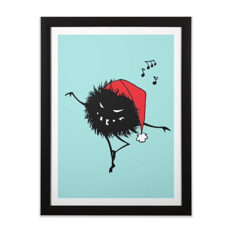 Dancing Evil Christmas Bug Home Framed Fine Art Print by Boriana's Artist Shop