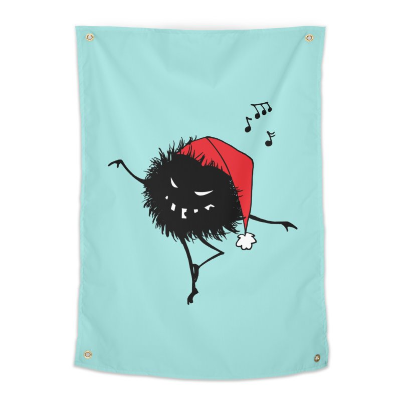 Dancing Evil Christmas Bug Home Tapestry by Boriana's Artist Shop
