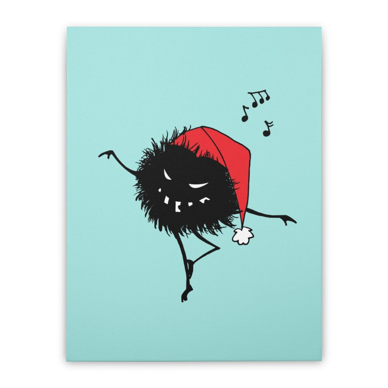 Dancing Evil Christmas Bug Home Stretched Canvas by Boriana's Artist Shop