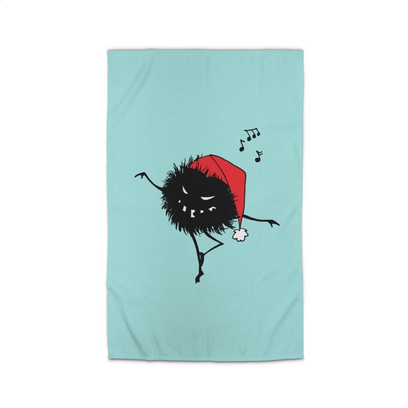 Dancing Evil Christmas Bug Home Rug by Boriana's Artist Shop