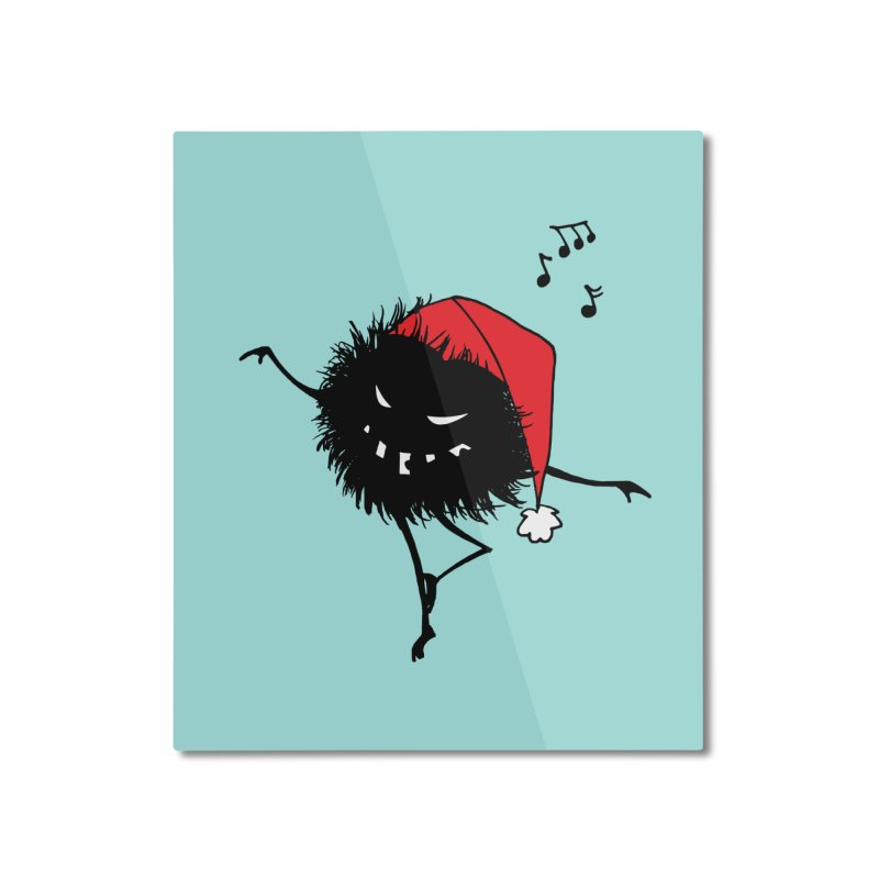 Dancing Evil Christmas Bug Home Mounted Aluminum Print by Boriana's Artist Shop