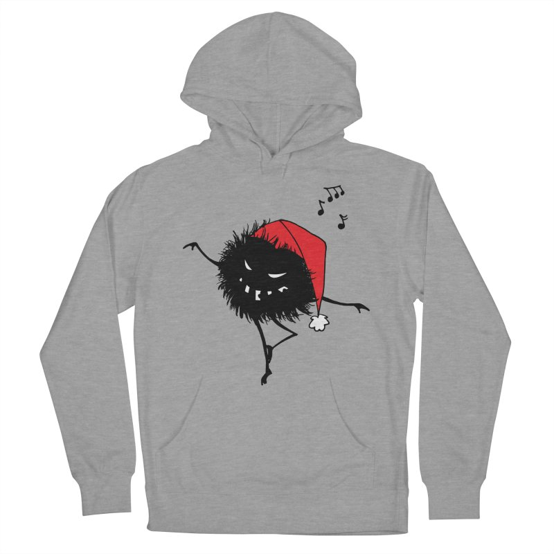 Dancing Evil Christmas Bug Men's Pullover Hoody by Boriana's Artist Shop