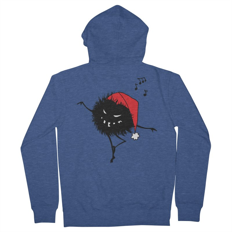 Dancing Evil Christmas Bug Women's Zip-Up Hoody by Boriana's Artist Shop