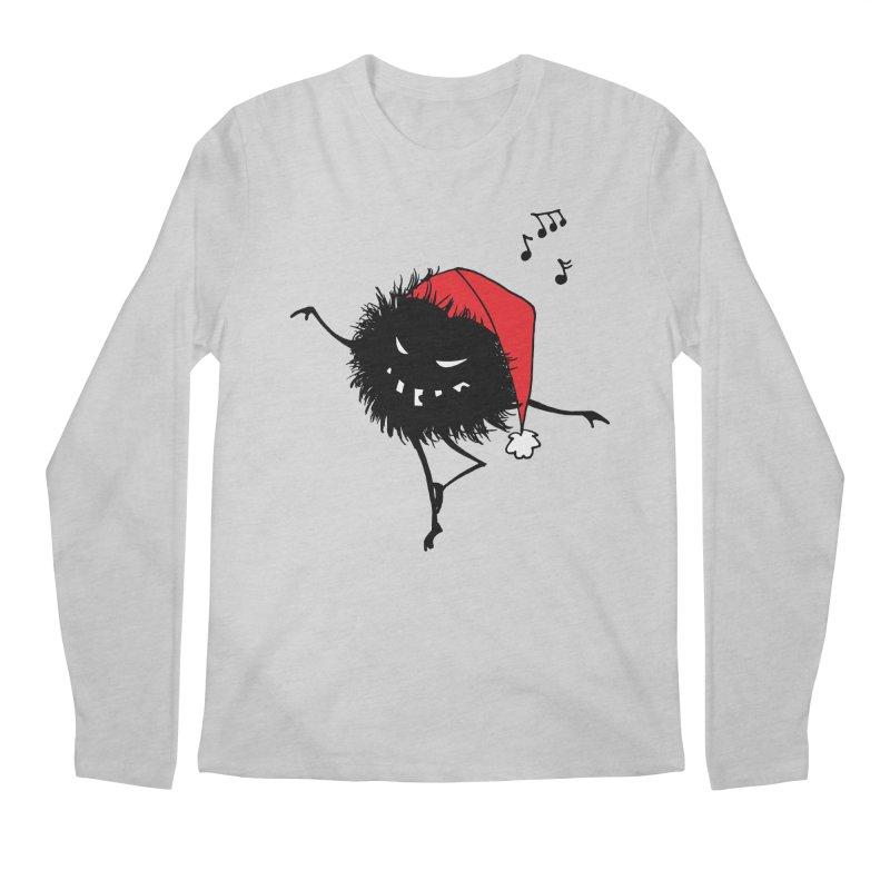 Dancing Evil Christmas Bug Men's Longsleeve T-Shirt by Boriana's Artist Shop