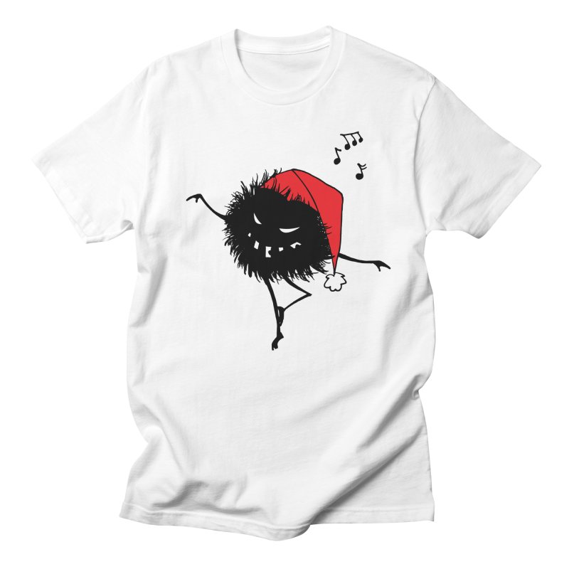 Dancing Evil Christmas Bug Men's T-Shirt by Boriana's Artist Shop