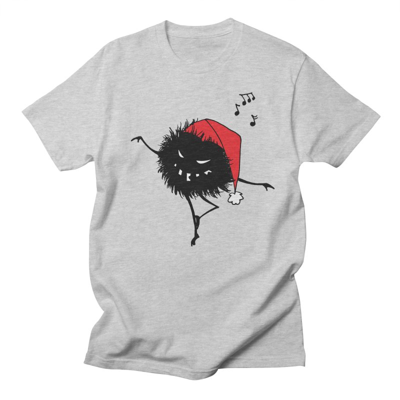 Dancing Evil Christmas Bug in Men's T-Shirt Heather Grey by Boriana's Artist Shop