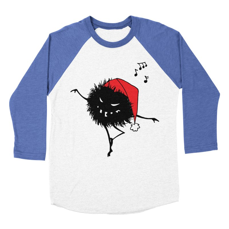 Dancing Evil Christmas Bug Women's Baseball Triblend T-Shirt by Boriana's Artist Shop