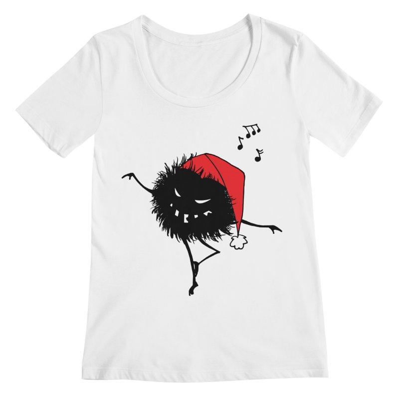 Dancing Evil Christmas Bug Women's Regular Scoop Neck by Boriana's Artist Shop