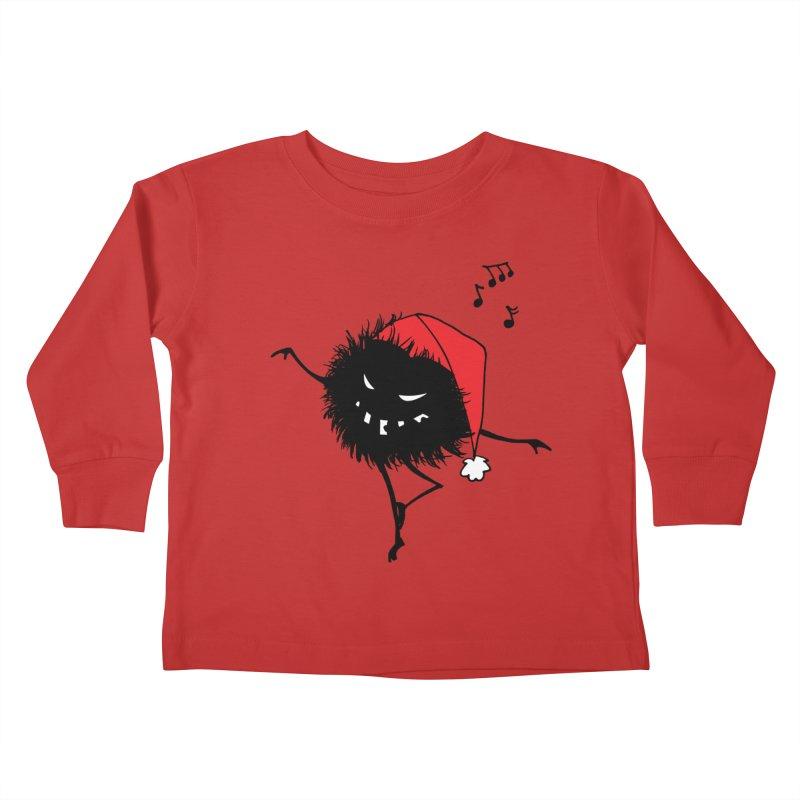 Dancing Evil Christmas Bug Kids Toddler Longsleeve T-Shirt by Boriana's Artist Shop