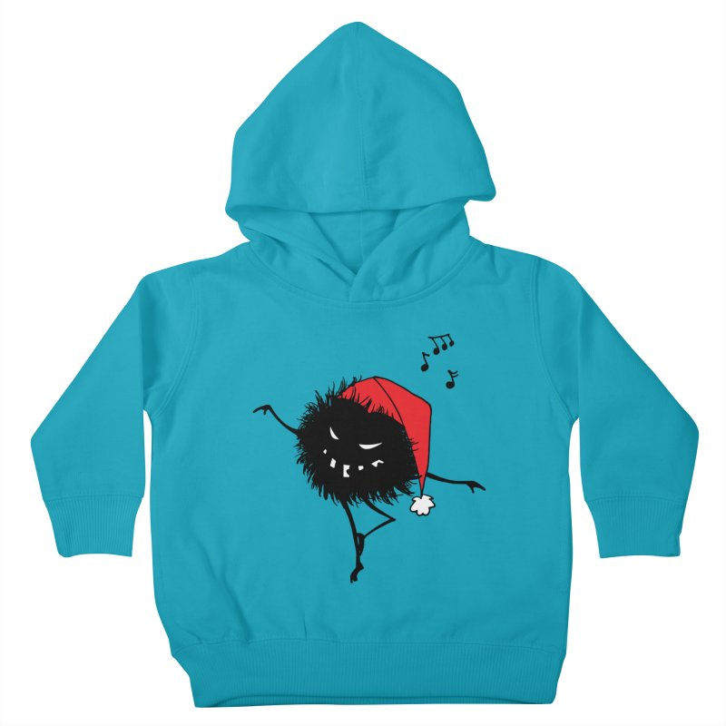 Dancing Evil Christmas Bug Kids Toddler Pullover Hoody by Boriana's Artist Shop