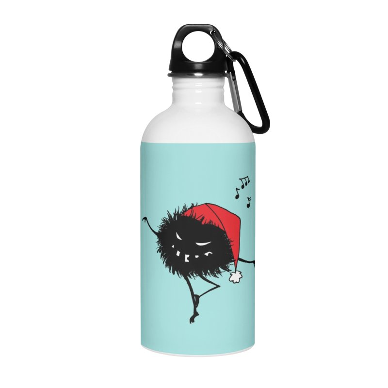 Dancing Evil Christmas Bug Accessories Water Bottle by Boriana's Artist Shop