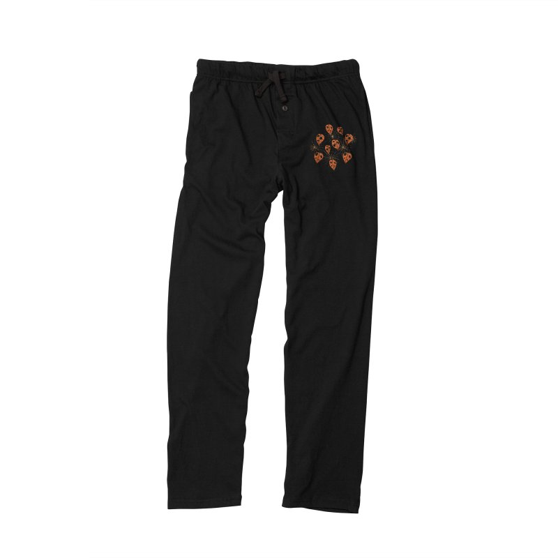 Orange Leaves With Holes And Spiderwebs Men's Lounge Pants by Boriana's Artist Shop
