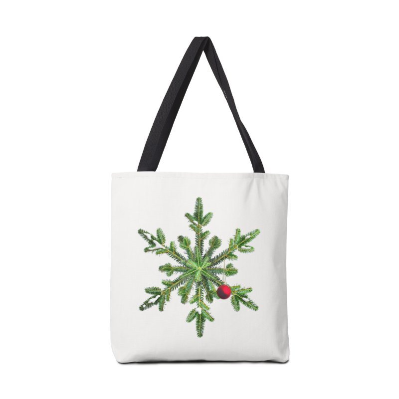 Beautiful Snowy Pine Snowflake Christmas Accessories Bag by Boriana's Artist Shop