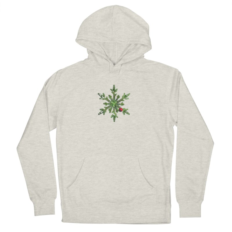 Beautiful Snowy Pine Snowflake Christmas Women's Pullover Hoody by Boriana's Artist Shop