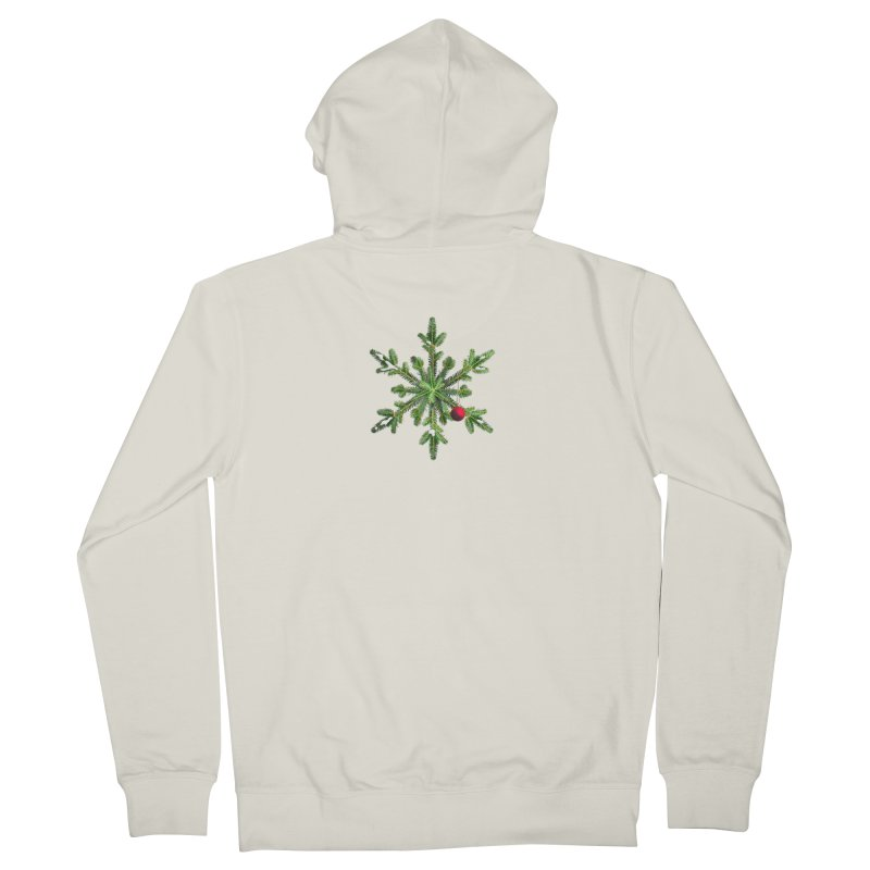 Beautiful Snowy Pine Snowflake Christmas Women's Zip-Up Hoody by Boriana's Artist Shop