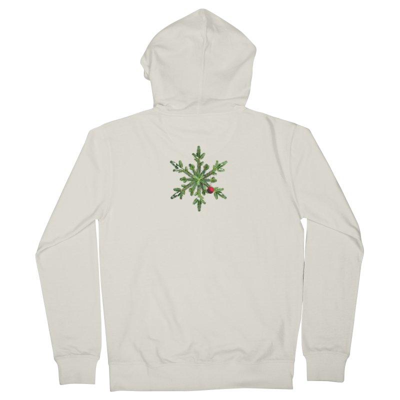 Beautiful Snowy Pine Snowflake Christmas Women's Zip-Up Hoody by Boriana's Artist Shop