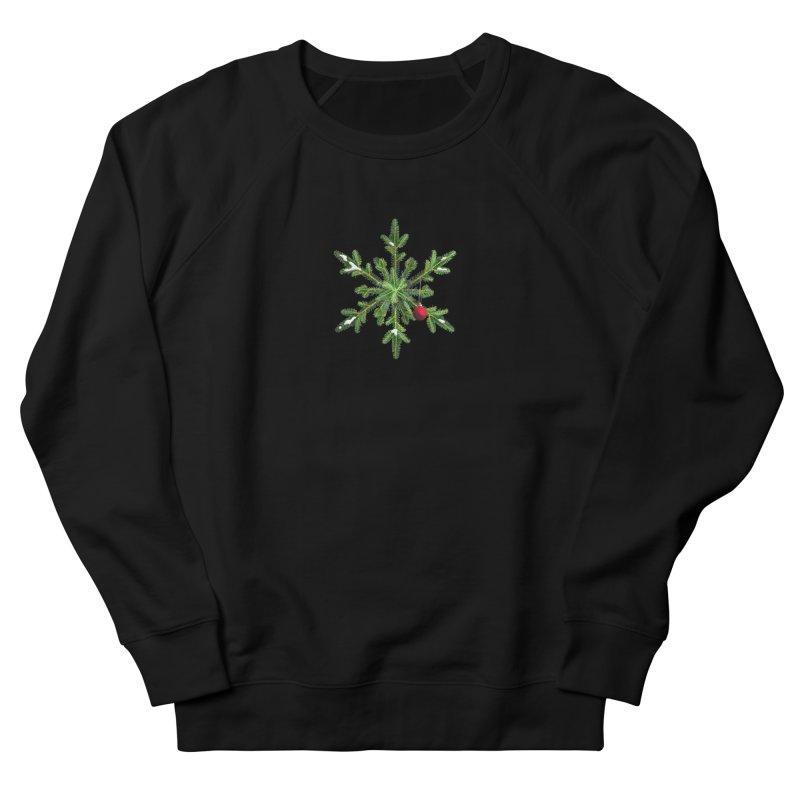 Beautiful Snowy Pine Snowflake Christmas Women's Sweatshirt by Boriana's Artist Shop