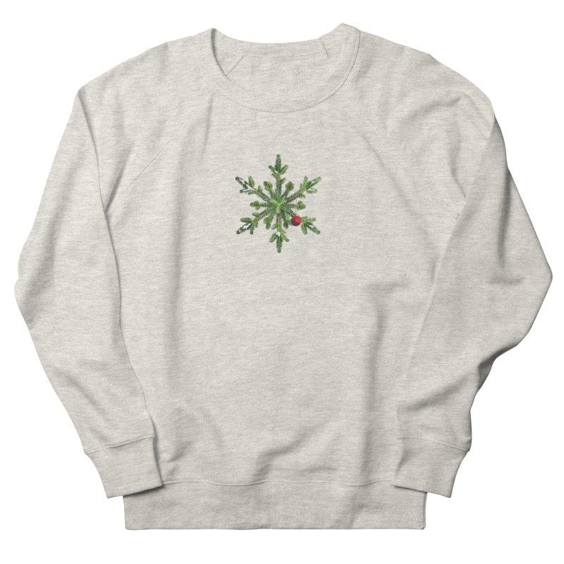 Beautiful Snowy Pine Snowflake Christmas Men's Sweatshirt by Boriana's Artist Shop
