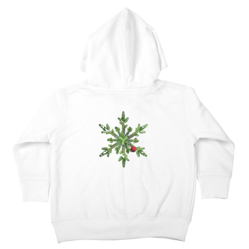 Beautiful Snowy Pine Snowflake Christmas Kids Toddler Zip-Up Hoody by Boriana's Artist Shop