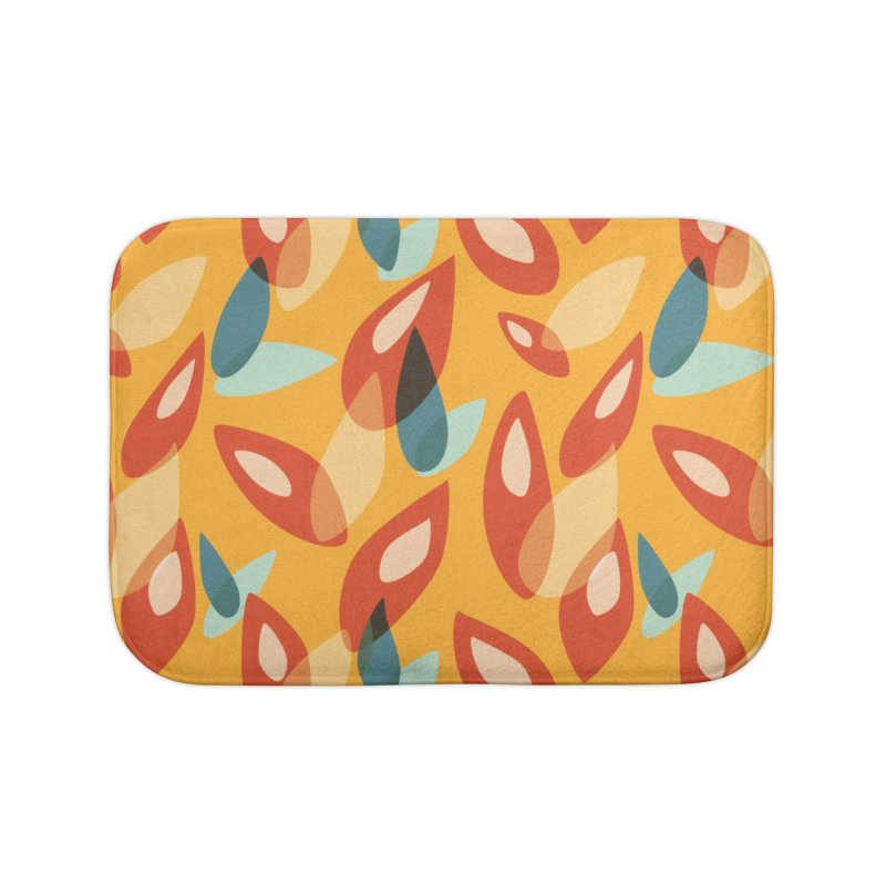 Abstract Autumn Leaves Pattern Home Bath Mat by Boriana's Artist Shop