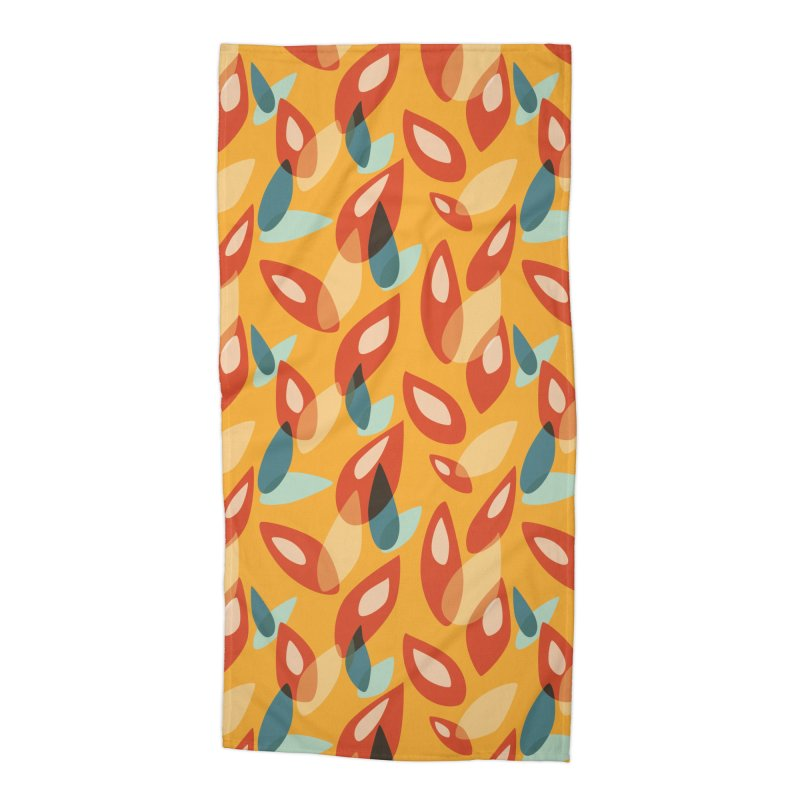 Abstract Autumn Leaves Pattern Accessories Beach Towel by Boriana's Artist Shop