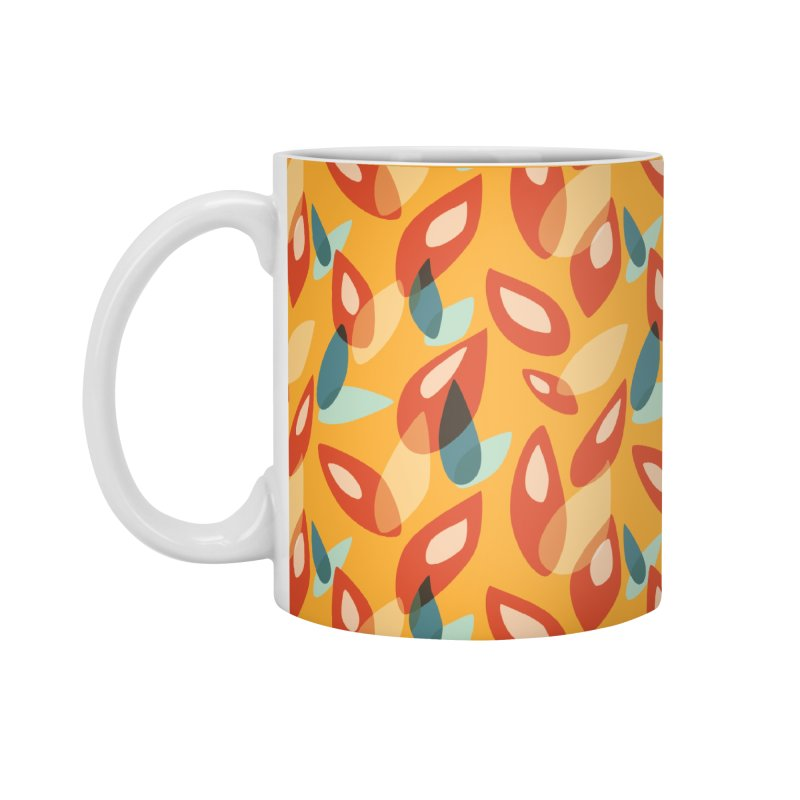 Abstract Autumn Leaves Pattern Accessories Mug by Boriana's Artist Shop