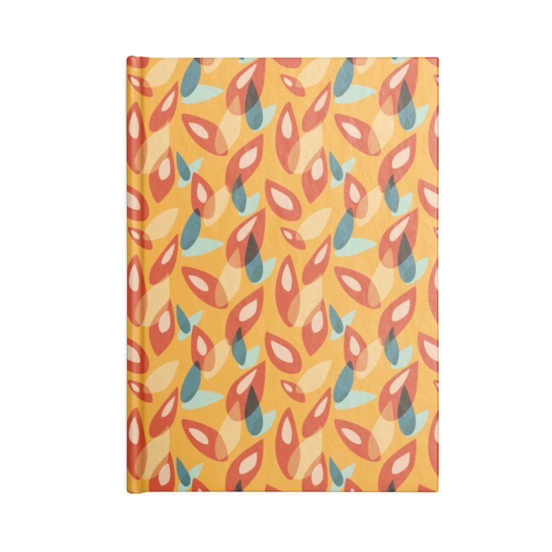 Abstract Autumn Leaves Pattern Accessories Notebook by Boriana's Artist Shop
