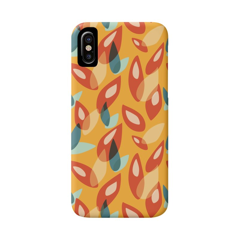 Abstract Autumn Leaves Pattern Accessories Phone Case by Boriana's Artist Shop