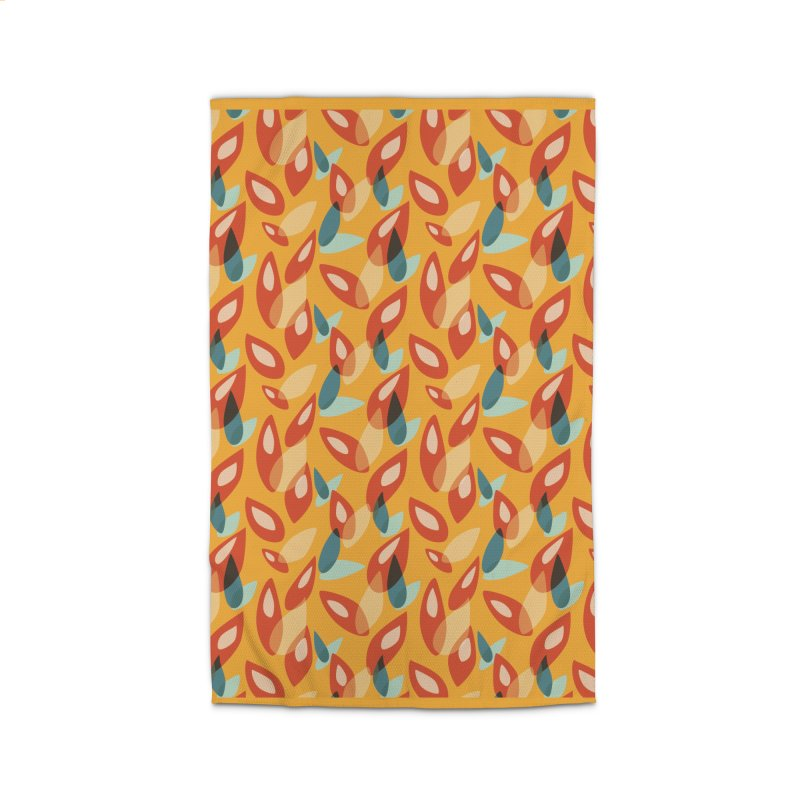 Abstract Autumn Leaves Pattern Home Rug by Boriana's Artist Shop