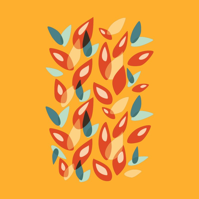 Abstract Autumn Leaves Pattern by Boriana's Artist Shop