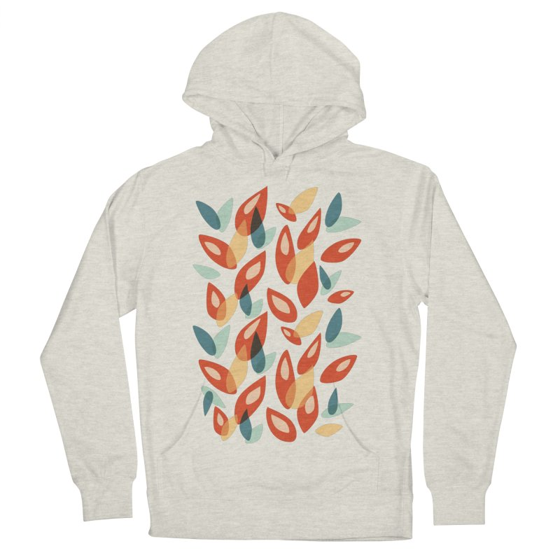 Abstract Autumn Leaves Pattern Women's Pullover Hoody by Boriana's Artist Shop