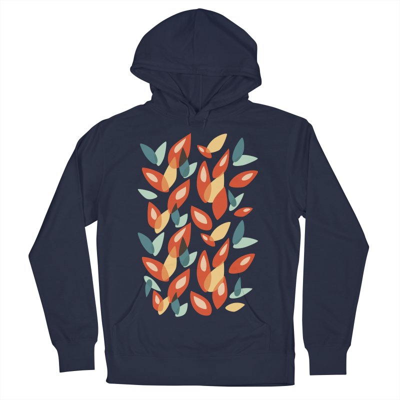 Abstract Autumn Leaves Pattern Men's Pullover Hoody by Boriana's Artist Shop