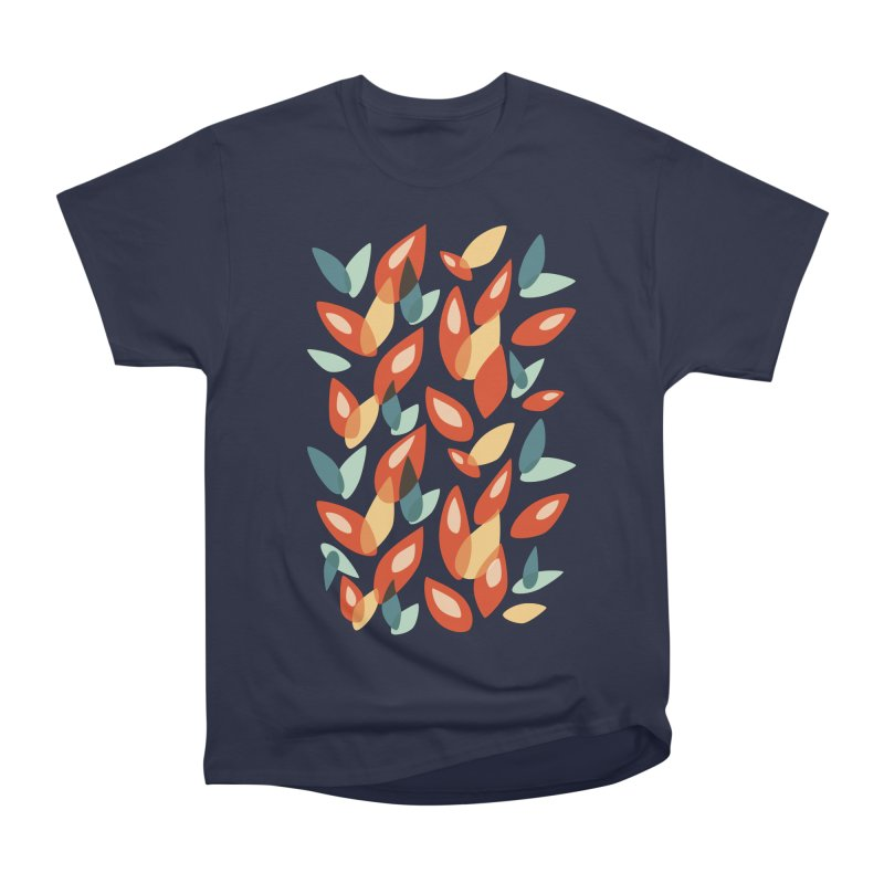 Abstract Autumn Leaves Pattern Men's Classic T-Shirt by Boriana's Artist Shop