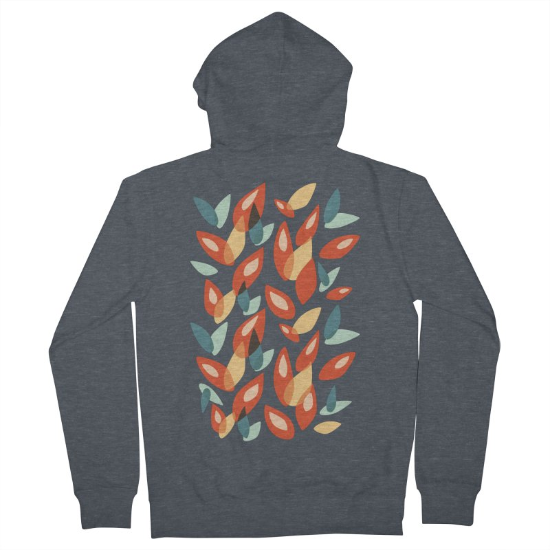 Abstract Autumn Leaves Pattern Women's Zip-Up Hoody by Boriana's Artist Shop