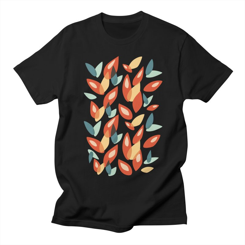 Abstract Autumn Leaves Pattern Men's T-Shirt by Boriana's Artist Shop