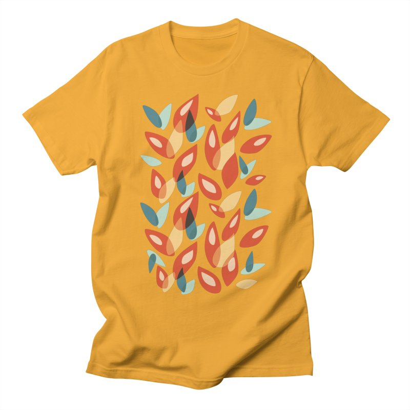 Abstract Autumn Leaves Pattern Women's Unisex T-Shirt by Boriana's Artist Shop