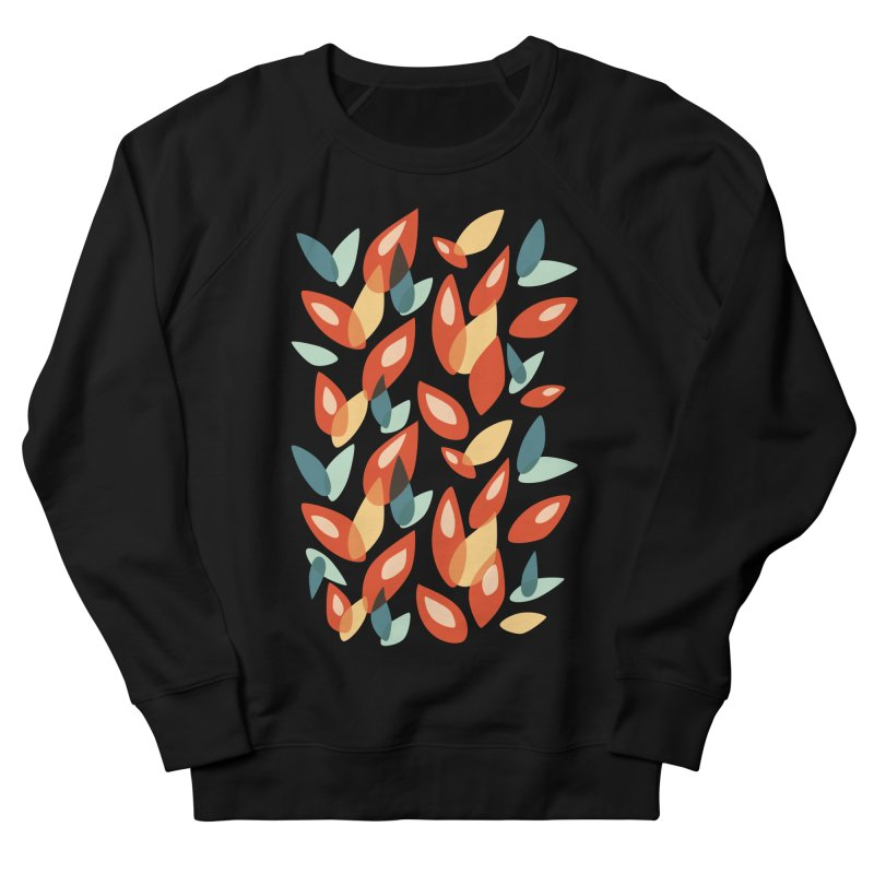 Abstract Autumn Leaves Pattern Women's Sweatshirt by Boriana's Artist Shop