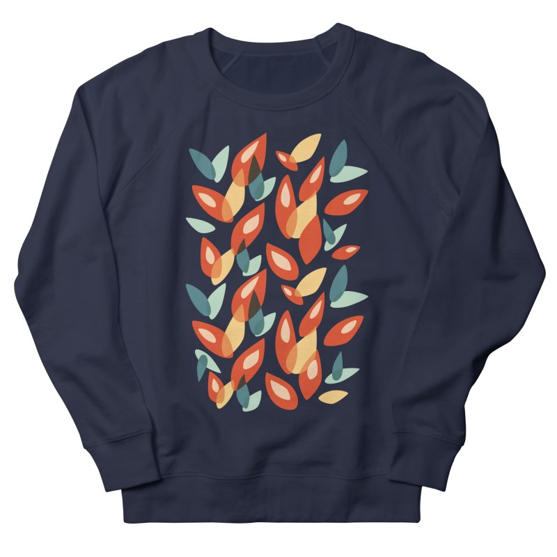 Abstract Autumn Leaves Pattern Men's Sweatshirt by Boriana's Artist Shop