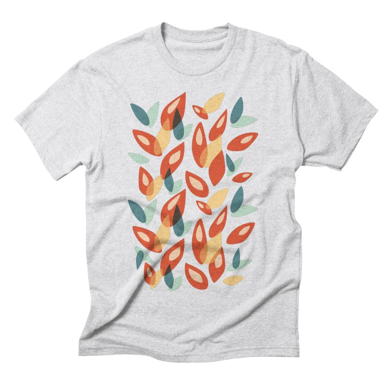 Abstract Autumn Leaves Pattern Men's Triblend T-Shirt by Boriana's Artist Shop