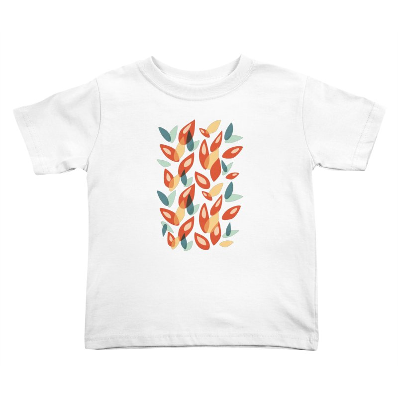 Abstract Autumn Leaves Pattern Kids Toddler T-Shirt by Boriana's Artist Shop