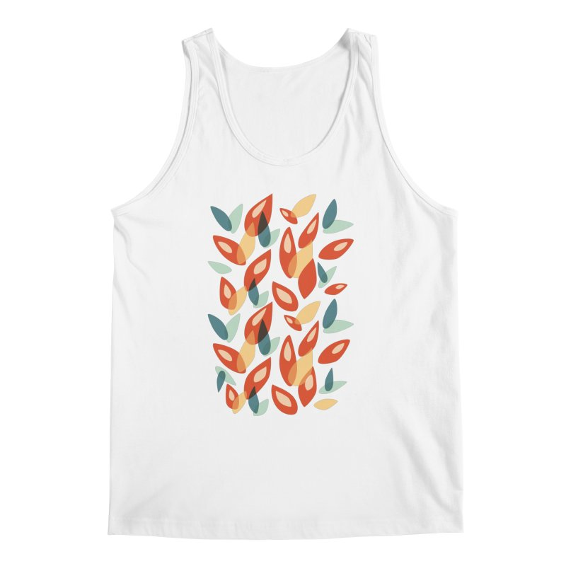 Abstract Autumn Leaves Pattern Men's Tank by Boriana's Artist Shop