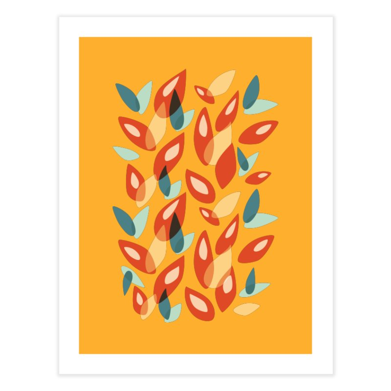 Abstract Autumn Leaves Pattern Home Fine Art Print by Boriana's Artist Shop