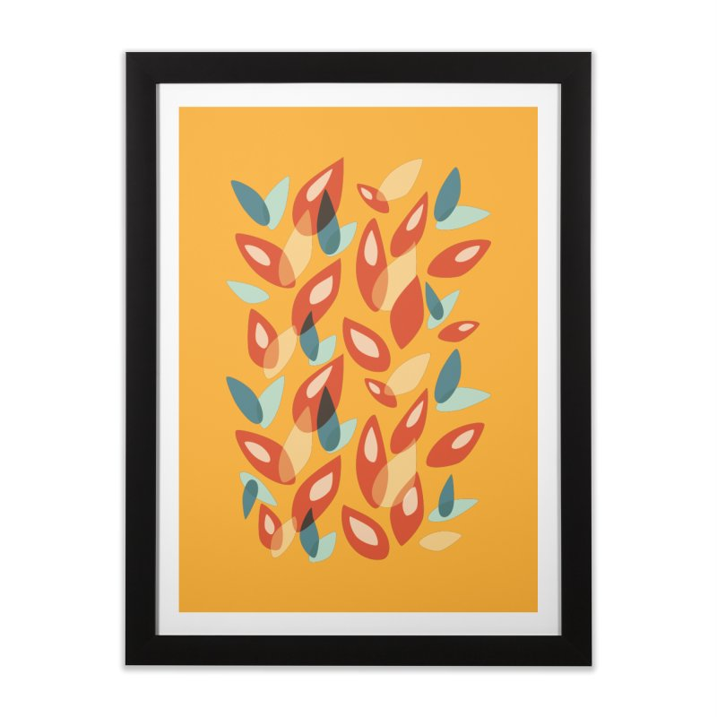 Abstract Autumn Leaves Pattern Home Framed Fine Art Print by Boriana's Artist Shop