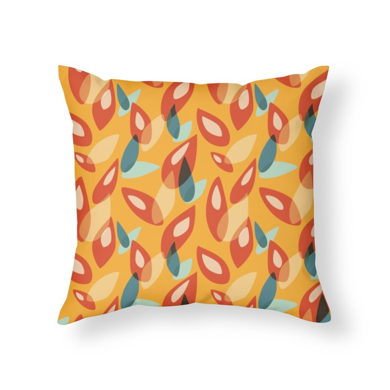 Abstract Autumn Leaves Pattern Home Throw Pillow by Boriana's Artist Shop