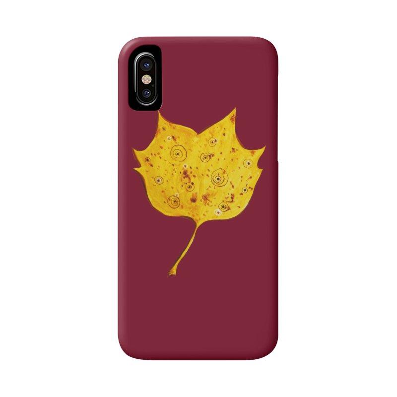 Fancy Yellow Autumn Leaf Accessories Phone Case by Boriana's Artist Shop