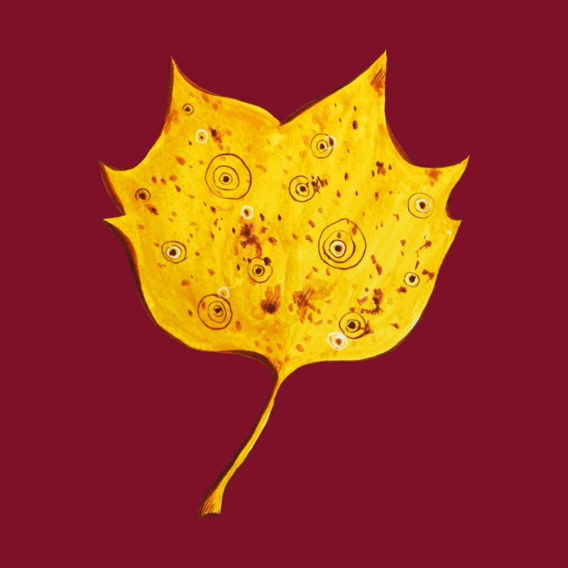 Fancy Yellow Autumn Leaf None  by Boriana's Artist Shop