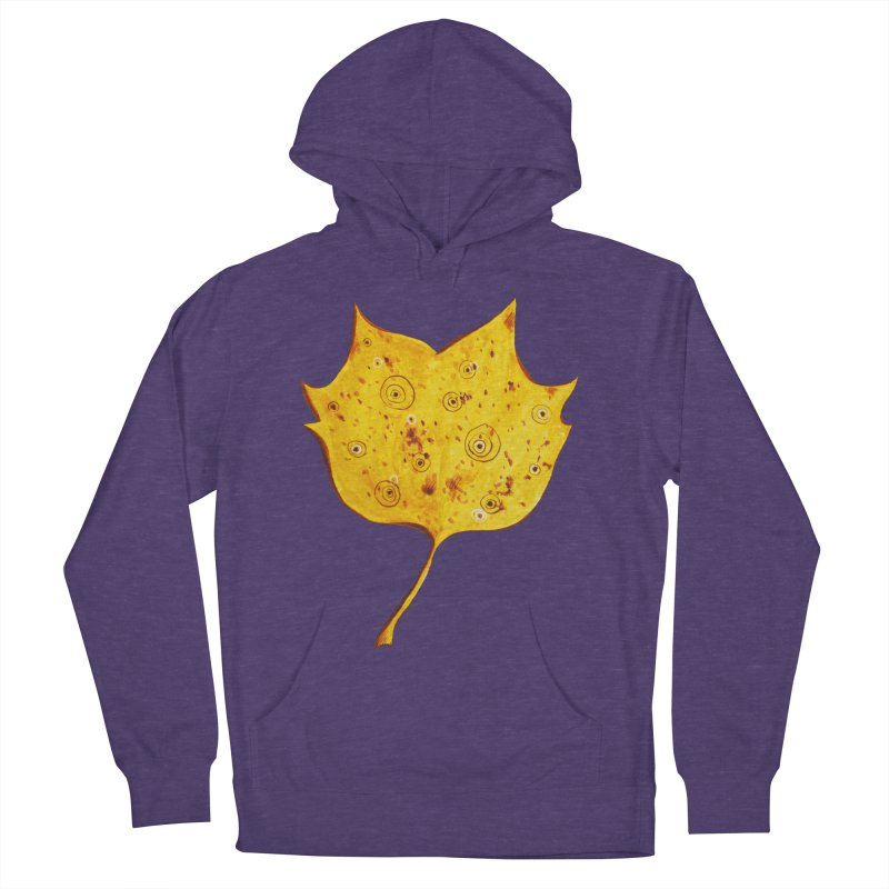 Fancy Yellow Autumn Leaf Women's Pullover Hoody by Boriana's Artist Shop